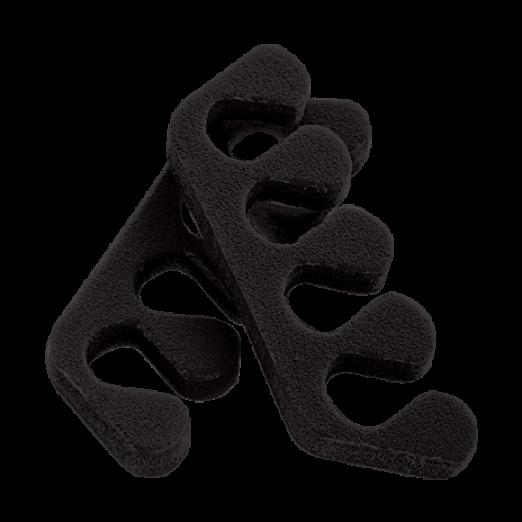 Разделители для пальцев, 20 пар, черные
