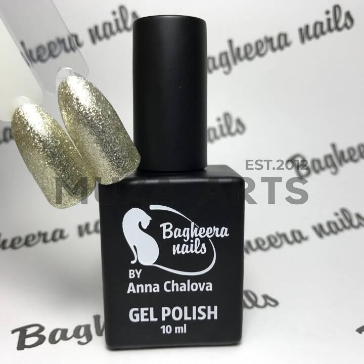 BN-33, Эффект фольги (благородное золото) Гель-лак BAGHEERA NAILS