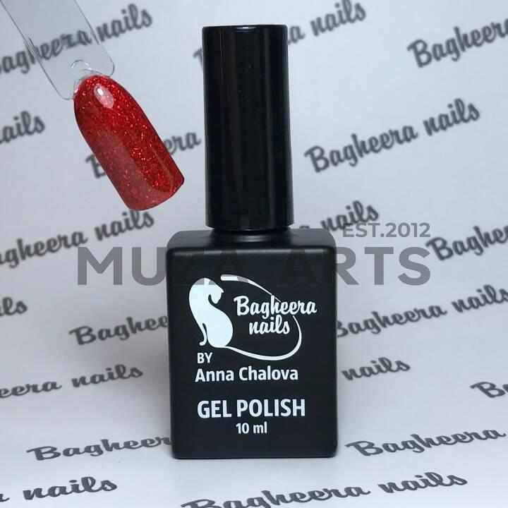 BN-72, Гель-лак эффект фольги, цвет красный BAGHEERA NAILS