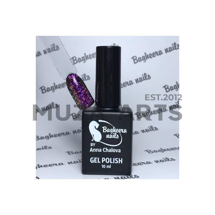 BN-74, Гель-лак розово-фиолетовый опал BAGHEERA NAILS