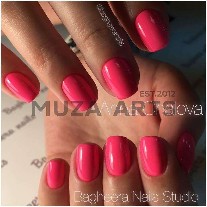 BN-15, неоновый розовый Гель-лак BAGHEERA NAILS
